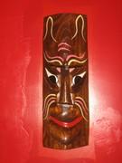 Tiki mask at New China Tea