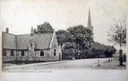 St Michael's Church & Infants School, Bounds Green Road, c1905