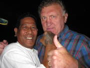 Ken with Joe Bugner ( Aussie Joe) well known World Heavyweight boxer of his time.