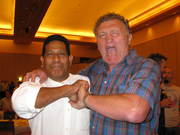 Ken Sigrah & Joe Bugner (Aussie Joe) Three times Euroupean Heavyweight Champion -1970s.