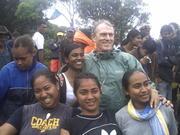 wit Professor Thaman on Mt Victoria