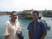 Banaba MP Timon Aneri and Ken Sigrah