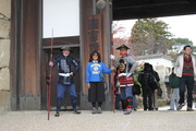 Osaka Castle gate duty