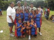 Under 9 squad finalist team from Rabi Island primary school at Ganilau Park in Savusavu during Cakaudrove Primary Schools meet.