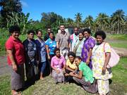 Taveuni Whole Nut and Processing Centre and some Agriculture staff with Mr Gary Tarte owner of the Waiyaniku Organic VCO factory at his esttate during our field trip