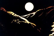 xmas set mountain moon details