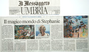 Luciano Gianfilippi's article of my show in Il Messaggero