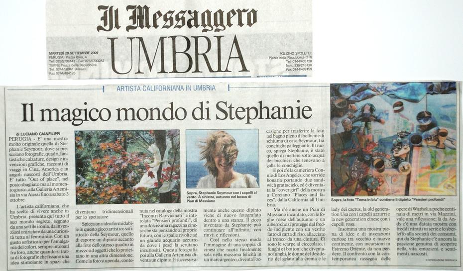 Luciano Gianfilippi's article of my show in Il Messaggero