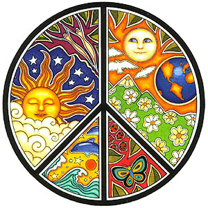 Peace, love and harmony