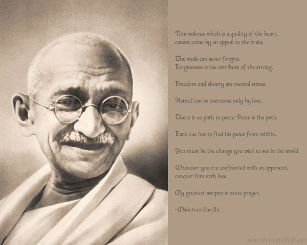 Mahatma Ghandi - man of peace