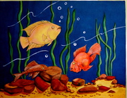 """Fish"" Glow in Dark Acrylic on Canvas"