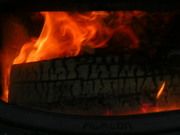 Fire burning warmth
