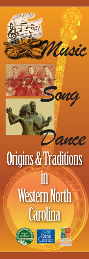 WNC Music, Song & Dance exhibit poster