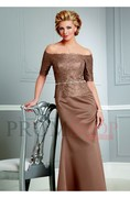 Natural Sleeveless Sash/Ribbon/Belt Floor-length Mother of The Bride Dresses