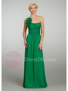 One-shoulder Natural Floor-Length A-Line/Princess Bridesmaid Dresses