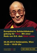 European Rally For Tibet Vienna May 26 2012