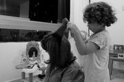 Un peinado de peluquería
