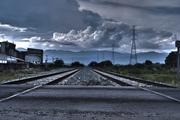 HDR Surrealista Vias de Tren