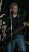 playing bass in band