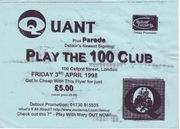 parade 100 club flyer