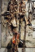 Detail of Painting w/ praying legs