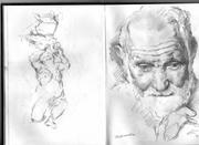 Sketchbook found in a scrap yard