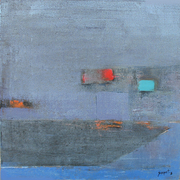 Blue gray , 24''x24'' oil and acrylic on canvas , 2008