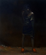 NO 2, ''PRIVATE THOUGHTS'' 1, OIL ON CANVAS, 34 X 29 INCHES.N250,00000..