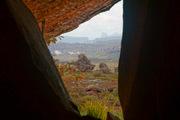 Ventana. Campamento El Oso. Auyan Tepui, Parque Nacional Canaima