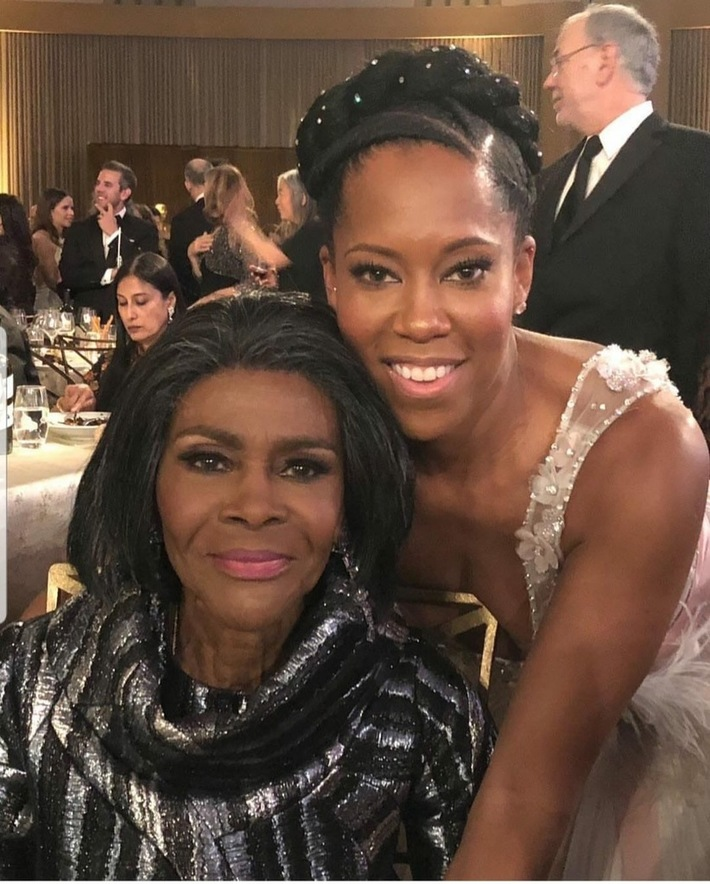 The beautiful and ageless Cicely Tyson and the lovely Regina King.