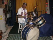 ICEPACK AND HIS BRAND NEW LATE 30S EARLY 1940S GRETSCH DRUMSET !!!