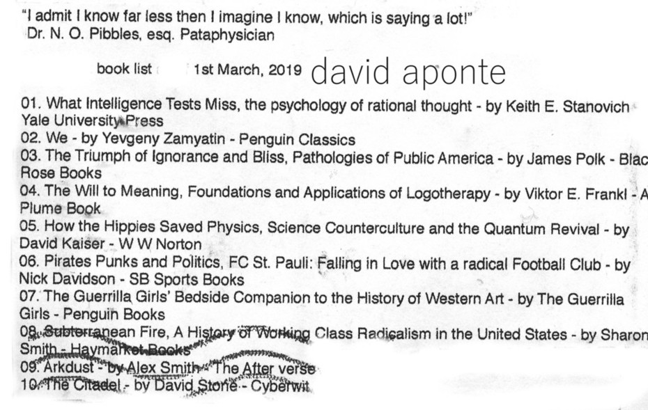 Aponte's Reading List