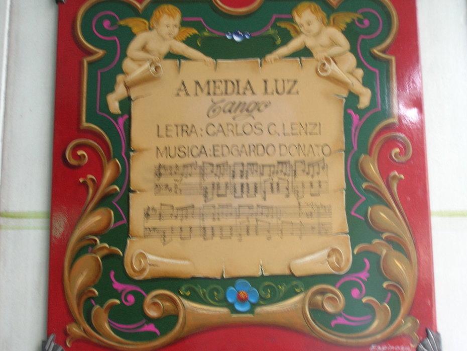 A partitura do tango...