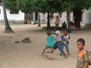 Playing Football(soccer),Lamu