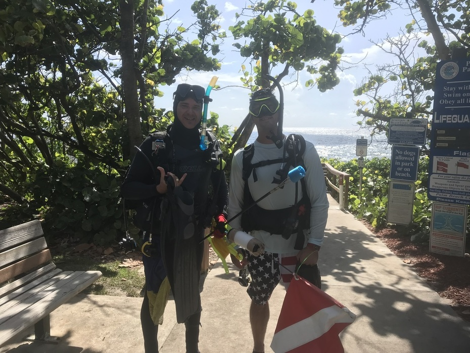Getting ready to dive / Seaweed or no Seeweed