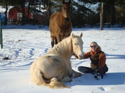 Brigitte Bella and I posing in the snow