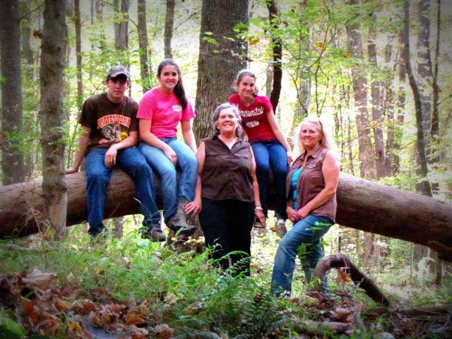 Cameron, Savannah, Linda, Alyssa and myself