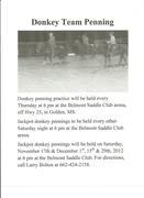 Donkey Team Penning 110312