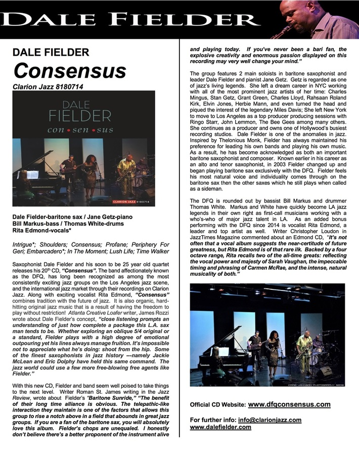 Consensus One Sheet
