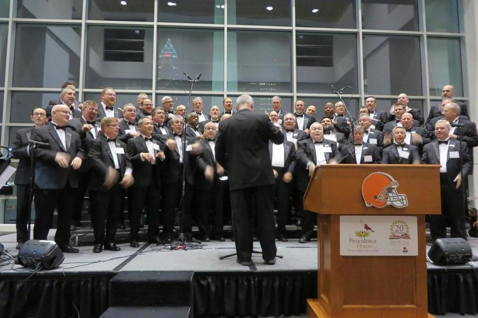 north coaast men's chorus at brown's stadium december 8, 2015