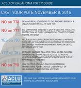 Oklahoma referendum questions, November 8th 2016 : ACLU recommendations