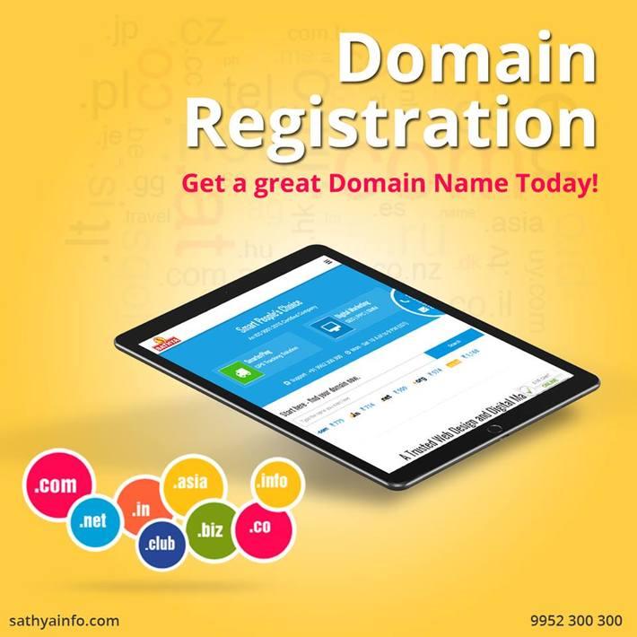 Domain Registration Company In India-Sathya Technosoft