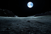Earthlight on the Moon