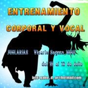 ENTRENAMIENTO CORPORAL Y VOCAL