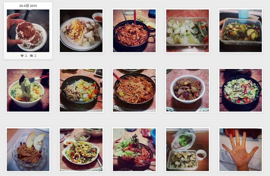 My food diary on instagram