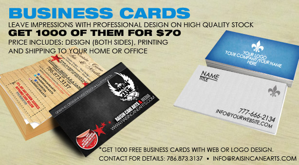 $70 Business Card Design and Printing