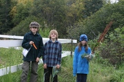 BioBlitz plant team kids with their finds