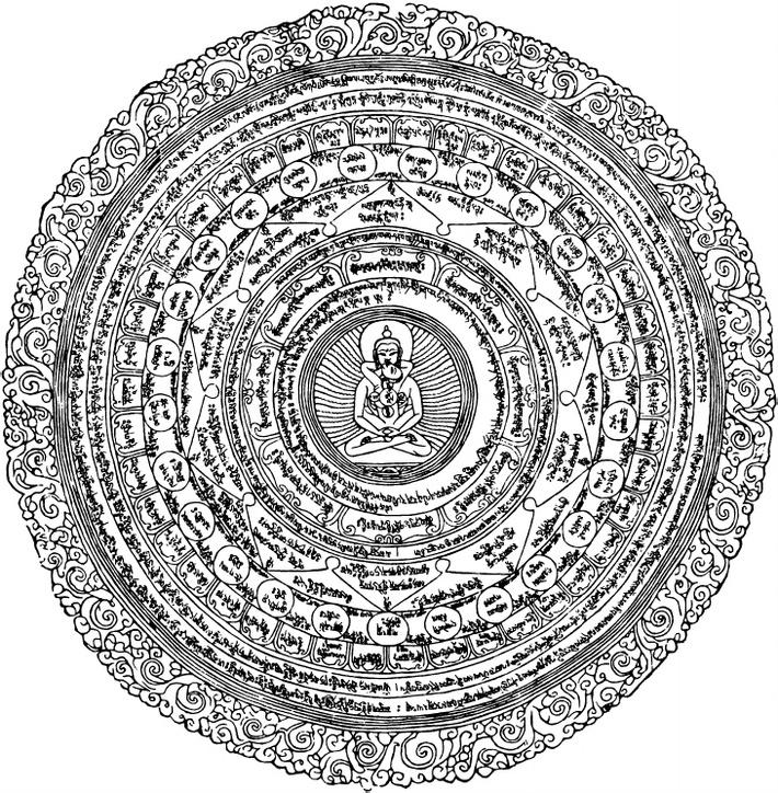 Padma Sambava and his consort performing tantric kundalini sex Alchemy