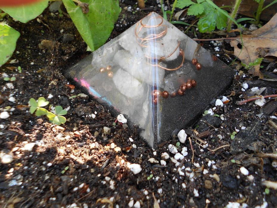 Orgone Garden Pyramid