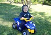 Cole ridin his 4-wheeler